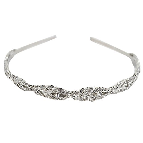 Sherry Headband Bridal Bridesmaid Flower Girl Crystal Hair Band Wedding Tiara Hair Accessories (Silver) by Sherry US