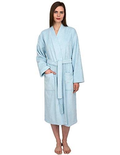 Light Daphne 2 (TowelSelections Women's Robe Turkish Cotton Terry Kimono Bathrobe Large/X-Large Aquamarine)