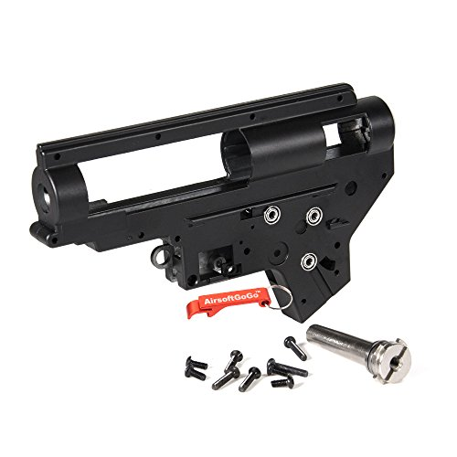 EC 8mm Bearing QD M4 Ver.2 Airsoft Gearbox Case (Black) - Keychain Included ()