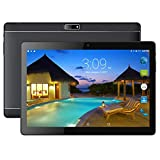 BENEVE Último Tablet 1 + 16GB Almacenamiento Android 7.0 Nougat Dual Sim 4G Panel de 10.1 HD IPS Pulgadas, Procesador MTK QuadCore WiFi PC-Negro