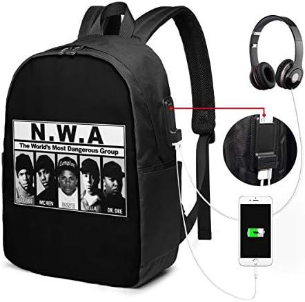ビジネスリュック ストレイト・アウタ・コンプトン NWA メンズバックパック 手提げ リュック バックパックリュック 通勤 出張 大容量 イヤホンポート USB充電ポート付き 防水 PC収納 通勤 出張 旅行 通学 男女兼用