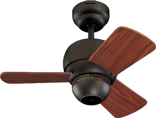 Monte Carlo 3TF24RB Downrod Mount, 3 Wood Finish Blades Ceiling fan, Roman Bronze