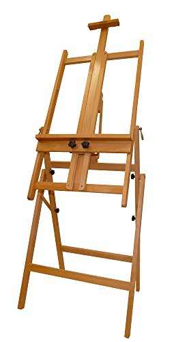 Mont Marte Convertible Studio Easel. Floor Easel Suitable for a Range of Canvas Sizes. Easy Height and Tilt Adjustment. by Mont Marte