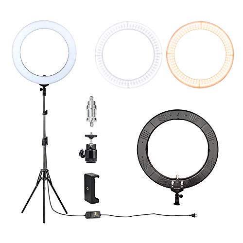 ZOMEi 18'' Dimmable LED Ring Light for Makeup Selfie Photographic Ring Light by ZOMEi (Image #9)