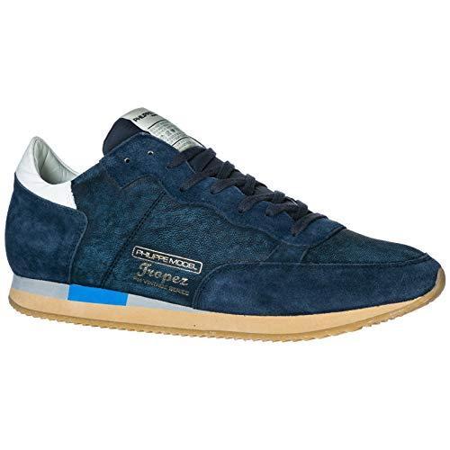 Blue Tropez Sneakers in Sneakers scamosciata Vintage Uomo Philippe Shoes Model pelle West Blu qw8gT7