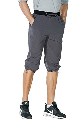 Nonwe Men's Outdoor Quick Drying Hiking Pants with drawstring hem