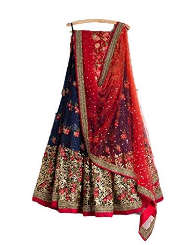 Indian Designer Collection Embroidered Work Indian Bollywood Designer Lehenga Choli Ethnic Look Women Semi-Stitched Lehenga Choli A336