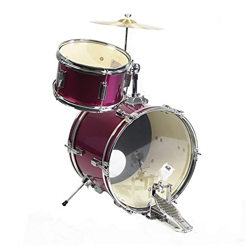 GP Percussion GP50MPK Complete Junior Drum Set (Pink, 3-Piece Set) by GP Percussion (Image #3)