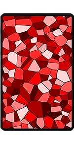 Funda para Kindle Fire 7 pouces - Rojo Mosaico Geométrico