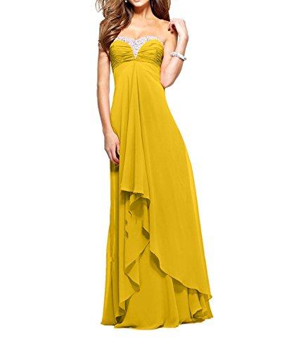 Partykleider Pailletten wassermelon Gelb Promkleider Abendkleider Ballkleider Lang Festlich Dunkel langes Charmant Damen aI0CRqwwf