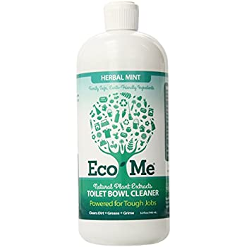 Amazon.com: Eco-Me Natural Powerful Toilet Bowl Cleaner, Herbal Mint ...