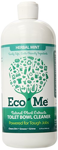 Eco-Me Natural Powerful Toilet Bowl Cleaner, Herbal Mint, 32 Fluid (Eco Friendly Toilet)