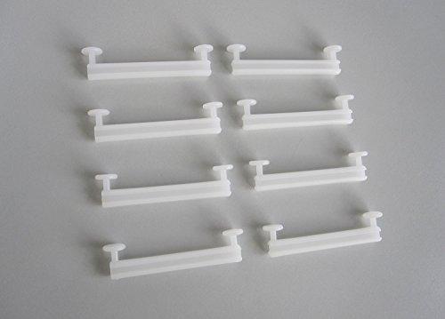 Schlaufengleiter für Gardinen / Vorhänge mit 50 mm Schlaufenbreite - zum Aufhängen von Gardinen und Vorhängen mit Schlaufen an Vorhangschienen - 8 Stück