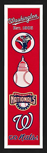 Washington Nationals Framed Heritage Banner 13x36 inches