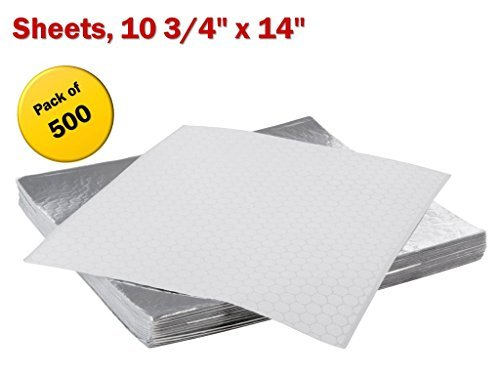 Insulated Foil Sandwich Wrap Sheets,10 3/4