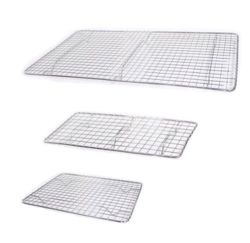 (Set of 3 Pan Grates, Cooling Racks, Assorted Sizes, Small, Medium, and Large, Chrome Plated)