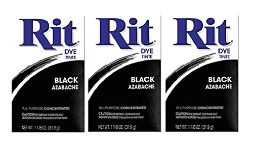 - Rit Dye Powder Dye, 1-1/8 oz, Black, 3-Pack