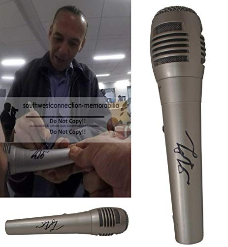 GIlbert Gottfried Signed Hand Autographed Microphone with Exact Proof Photo of Gilbert Signing the Mic, Aladdin, Disneyana, Voice of Lago, Saturday Night Live, Last Comic Standing, COA