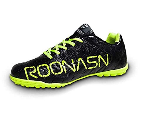 ROONASN Men's Athletic Turf Soccer Cleats Football Boots Outdoor/Indoor Sports Shoes (9.5 M US, Fluorescent/Green) ()