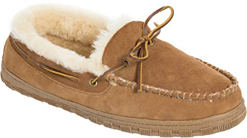 a5a3322a4c47e5 Men's Sydney Sheepskin Moccasin Slippers.
