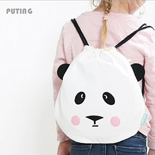 RedSonics(TM) Simple Style Backpack Women Cute Bear Face To Travel Double Shoulder Bag Fashion Storage Bags Czl8196