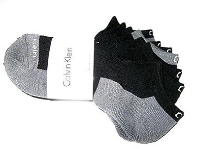 Calvin Klein Athletic Cushion Socks 5 Pair Ankle Cut (Charcoal Grey/Black)