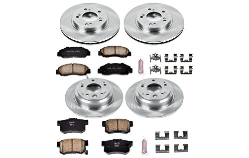 Power Stop KOE2717 Autospecialty By Power Stop 1-Click Daily Driver Brake Kits Incl. 11.1 in. Front/11.1 in. Rear OE Replacement Rotors w/Z16 Ceramic Scorched Brake Pads Autospecialty By Power Stop 1-Click Daily Driver Brake Kits Kit Acura Legend