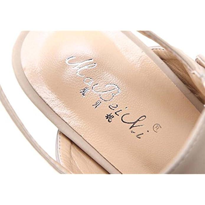 Sandalo Peep-toe Da Donna Con Plateau Scarpe Tacco Alto Beige nero Taglia 34-40