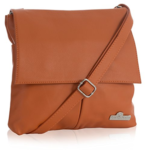 Liatalia Orange Italian Hazel Leather Handbag Real Womens Soft Shoulder Messenger Crossbody Avg4aAnr