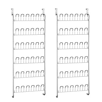 Neu Home Organize It All Over-The-Door 18 Pair Hanging Wire Shoe Rack (Pack of 2)