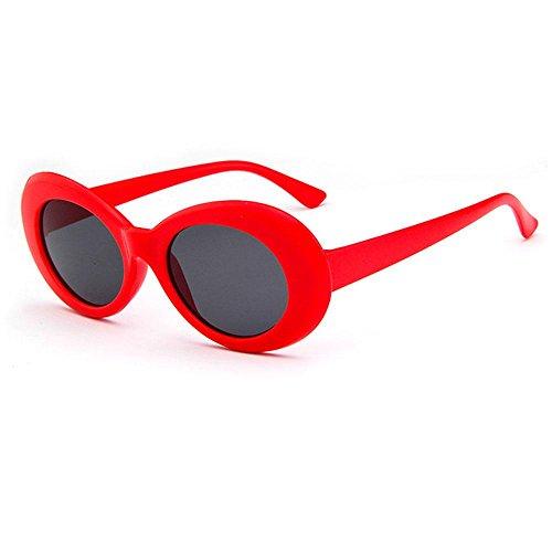 grueso retro para de Black sol ovaladas Aolvo marco Gray niñas 2018 sol Gray y Red de Clout ovaladas y gafas mujeres Gafas unisex con 76RRqn0wzE