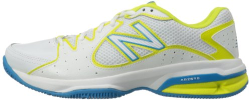 888098094114 - New Balance Women's WC786 Tennis Shoe,White/Yellow,7.5 2A US carousel main 4