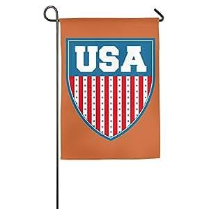Estados Unidos Shiled casa bandera de banderas, banderas, banderas al aire libre decorativa, Patio, Casa bandera