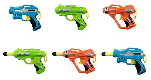 Mini Foam Dart Blaster Guns Multi Pack Party Favors (Set of 6) Dart Gun