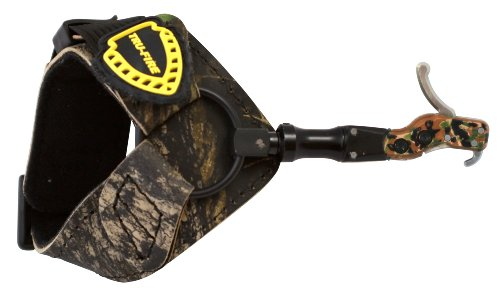 TruFire Hardcore Buckle Foldback Adjustable Archery Compound Bow Release - Camo Wrist Strap with Foldback Design (Best Bow Trigger Release)