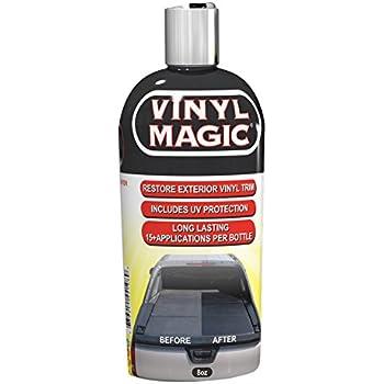 vinyl magic plastic and trim restorer dye free formula shines and darkens worn out. Black Bedroom Furniture Sets. Home Design Ideas