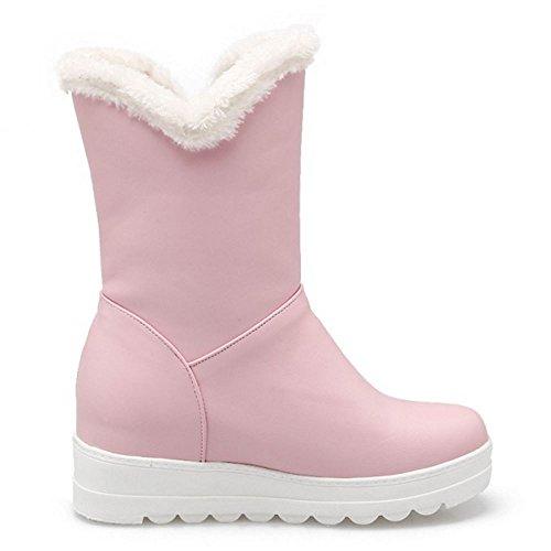 Stivaletti Pink Inverno Pelliccia Zanpa Ragazze Scarpe Donna Caldi S7Xg7q