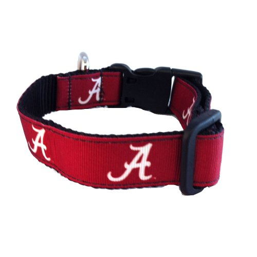 NCAA Alabama Crimson Tide Dog Collar (Team Color, Medium)