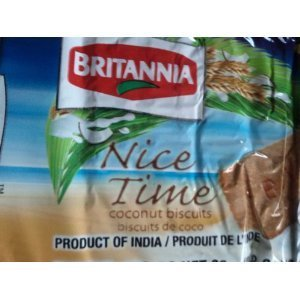 Britannia Nice Time Coconut Biscuits (Pack of 6) ()