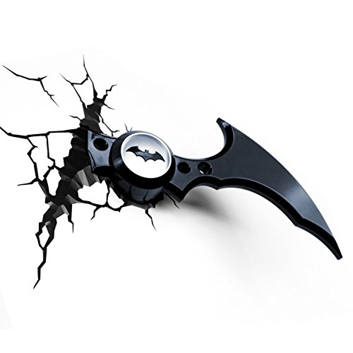 Comics+3D+Night+Lamp+ Products : Batman Batarang 3D LED Wall Light