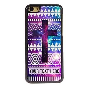 Top personalisierte Teléfono Buzón–Lila Cruz Diseño Caja de metal para iPhone 5C