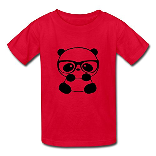 100% Cotton Cute Kid's Boys And Girls T Shirts Red Size L