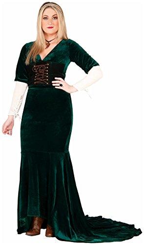Forum Novelties Women's Revealing Renaissance Costume, Green, X-Large