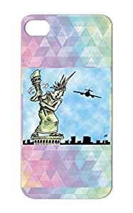 Statue Of Liberty Drawing Funny Miscellaneous Statue Liberty Drawing Shirt Art Humor Patriotic Navy For Iphone 5/5s Protective Hard Case