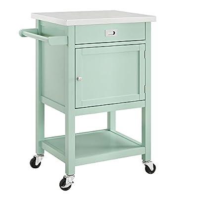 Linon Wyatt Green Apartment Cart