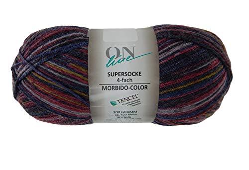 - Sock Yarn On Line Supersocke 4-Ply 4-fach Soft Color Superwash Virgin Wool Blend 459 Yards 3.5 Ounces (2239)