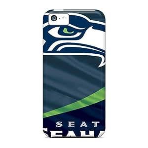 Iphone 5c Uwj5848YHgA Unique Design Lifelike Seattle Seahawks Series Durable Hard Phone Cover -LauraAdamicska