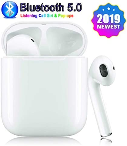 Wireless Earbuds Bluetooth 5.0 Bluetooth Headphones Stereo 24H Playtime Wireless Headphones Support Fast Charging Pop-ups Auto Pairing IPX5 Water-Resistant,for iPhone Apple of airpod and Airpods