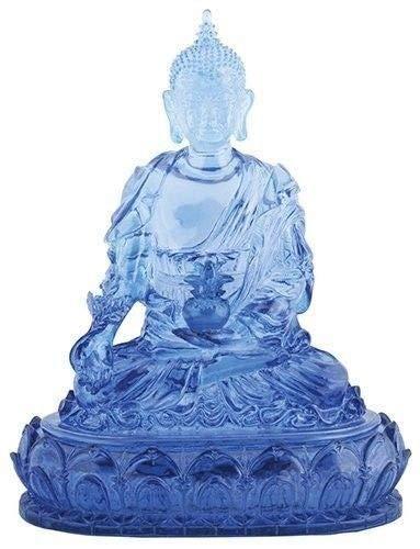 ShopForAllYou Figurines and Statues Blue Colored Medicine Buddha Religious Shrine Decorative Statue