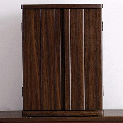 家具調仏壇 幅40cm コンパクト ミニ 完成品 (ブラウン)